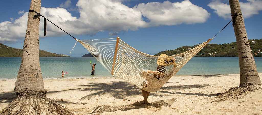 In The Hammock on the Beach