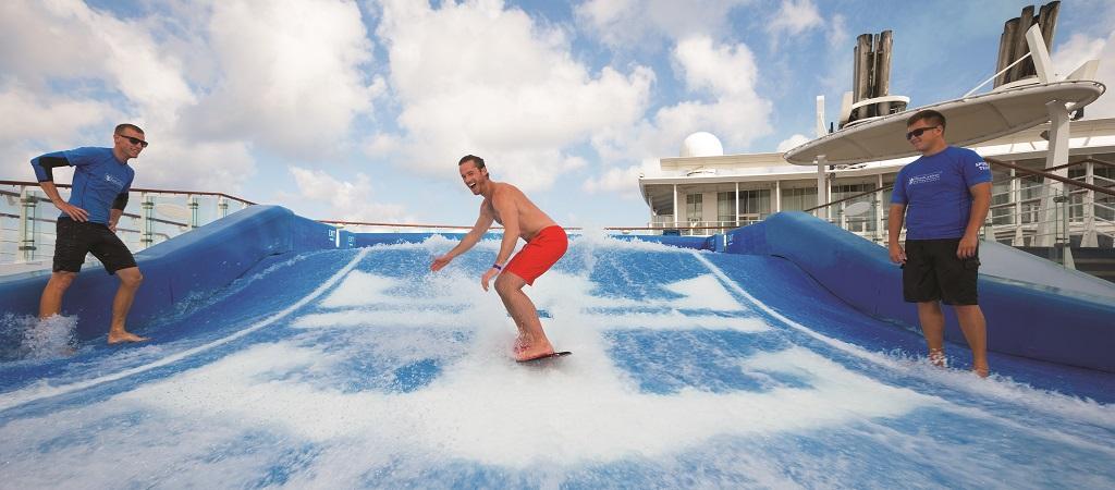 Flowrider Man Surfing