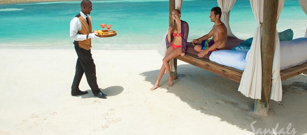 Sitting on Beach Cabana